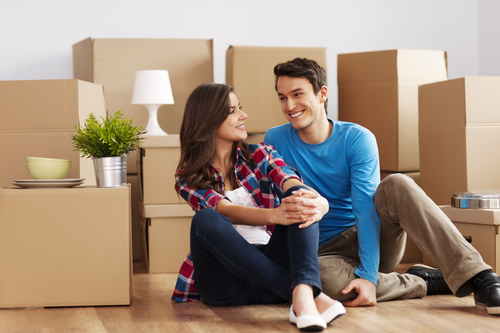 First Time Home Buyers Moving In
